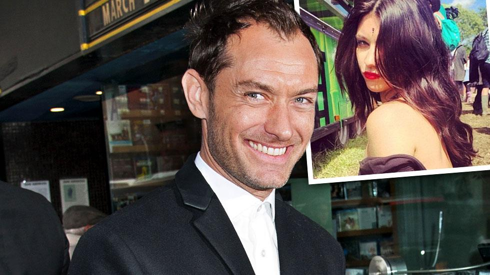 //jude law becoming a dad again