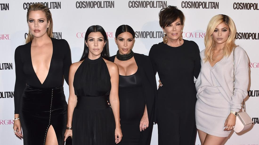 Kardashian Jenner family poses on the red carpet