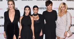 Kardashian Jenner family poses on the red carpet
