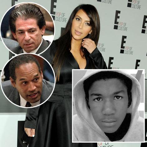 //kim robert kardashian oj simpson trayvon martin square getty