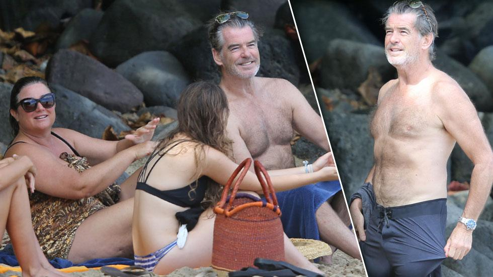 pierce brosnan keely shaye smith shirtless hawaii