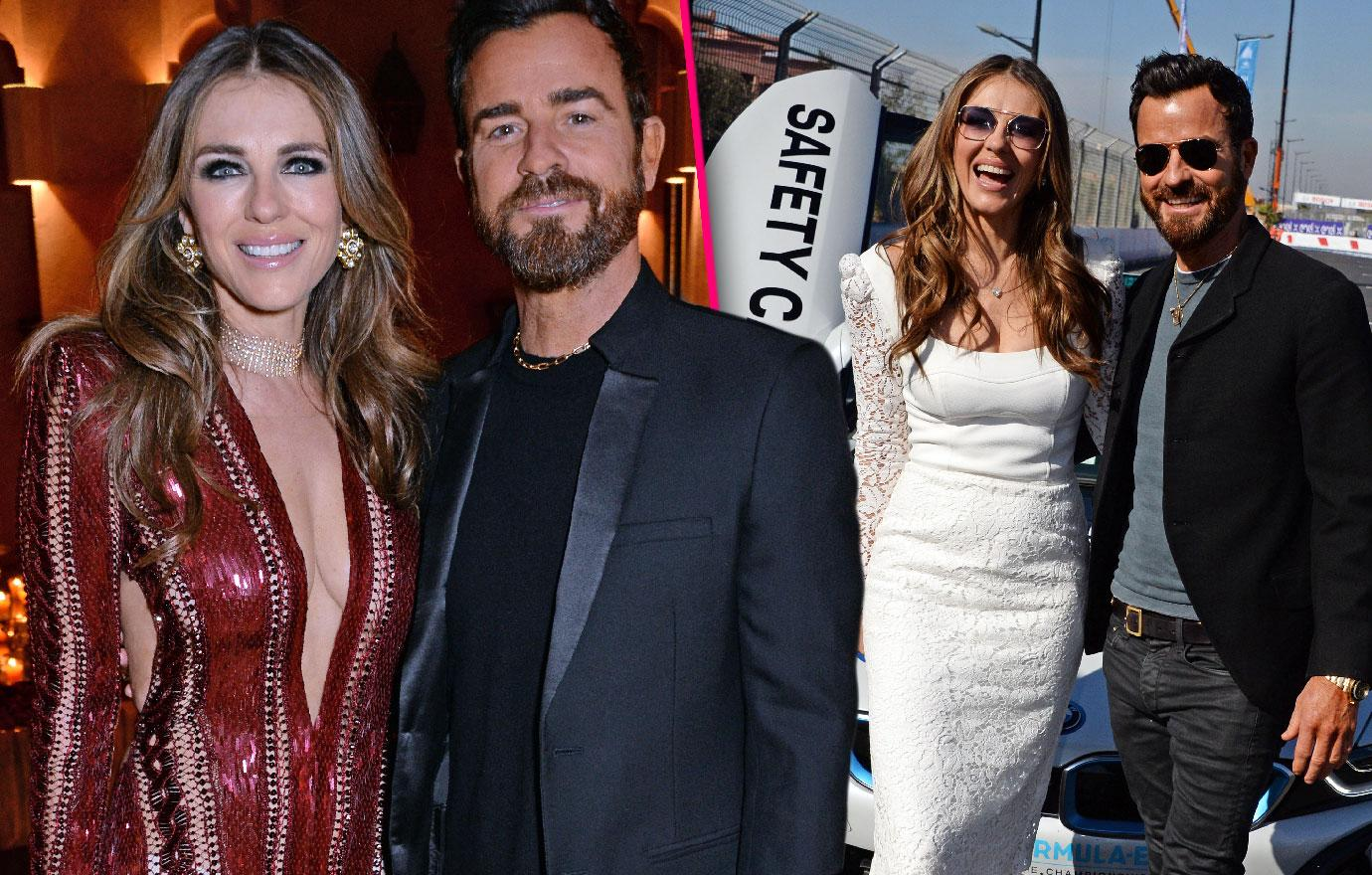 Justin Theroux And Elizabeth Hurley Stoke Romance Rumors At Races