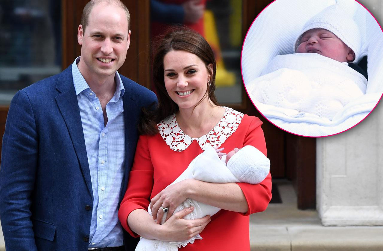 //Kate Middleton William Leave Hospital Baby Son pp