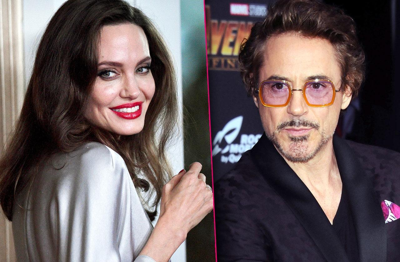 //Angelina Jolie and Robert Downey jr crush pp