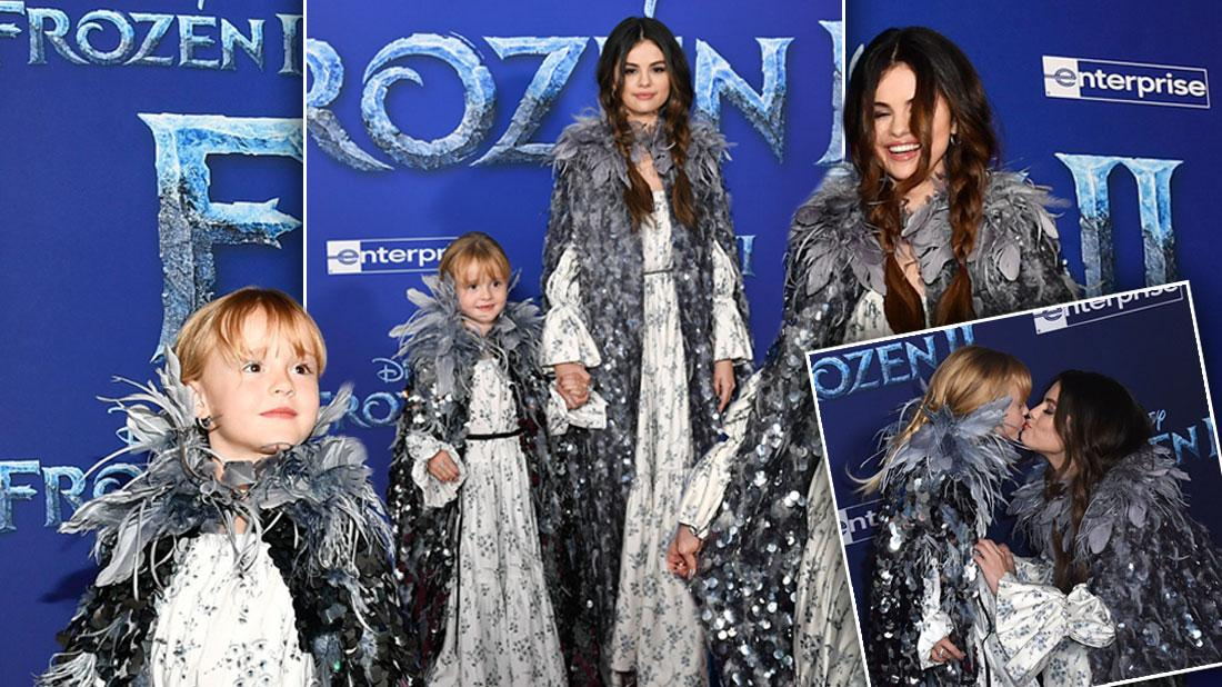 Selena Gomez & Sister Wear Matching Outfits To 'Frozen' Premiere