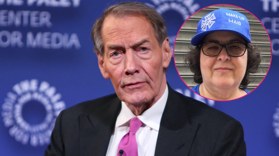 Charlie Rose attends the Paley Center for Media. Inset, Gina Riggi.
