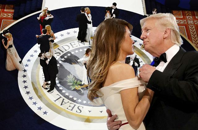 President Donald Trump Melania Inaugural Balls Pics