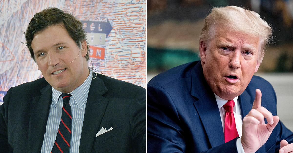 tucker carlson accused of leaking donald trump information press