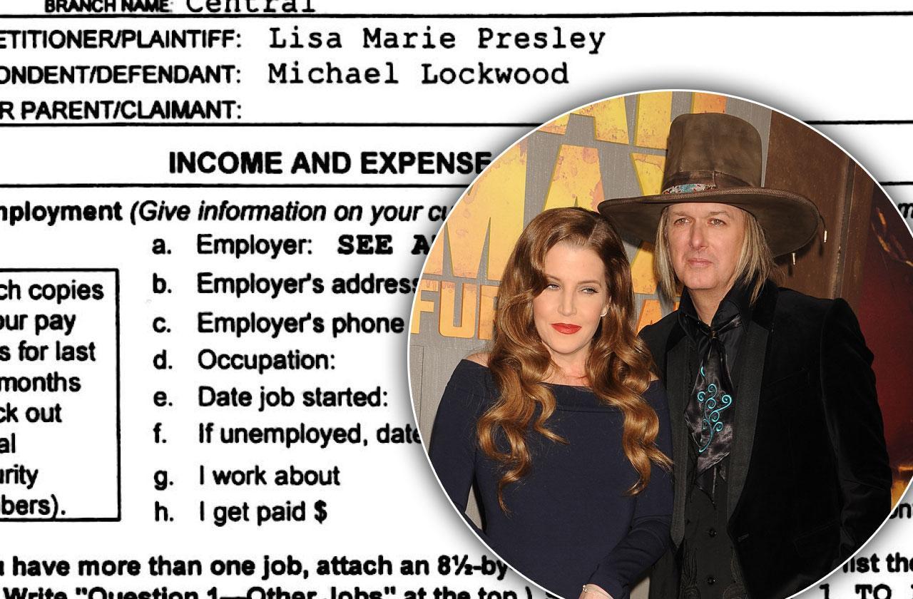Michael Lockwood & Lisa Marie Presley Divorce