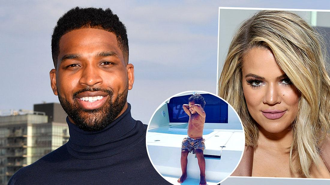 Tristan Posts Yacht Son Pic After Ex Said He Squandered Money On Khloe