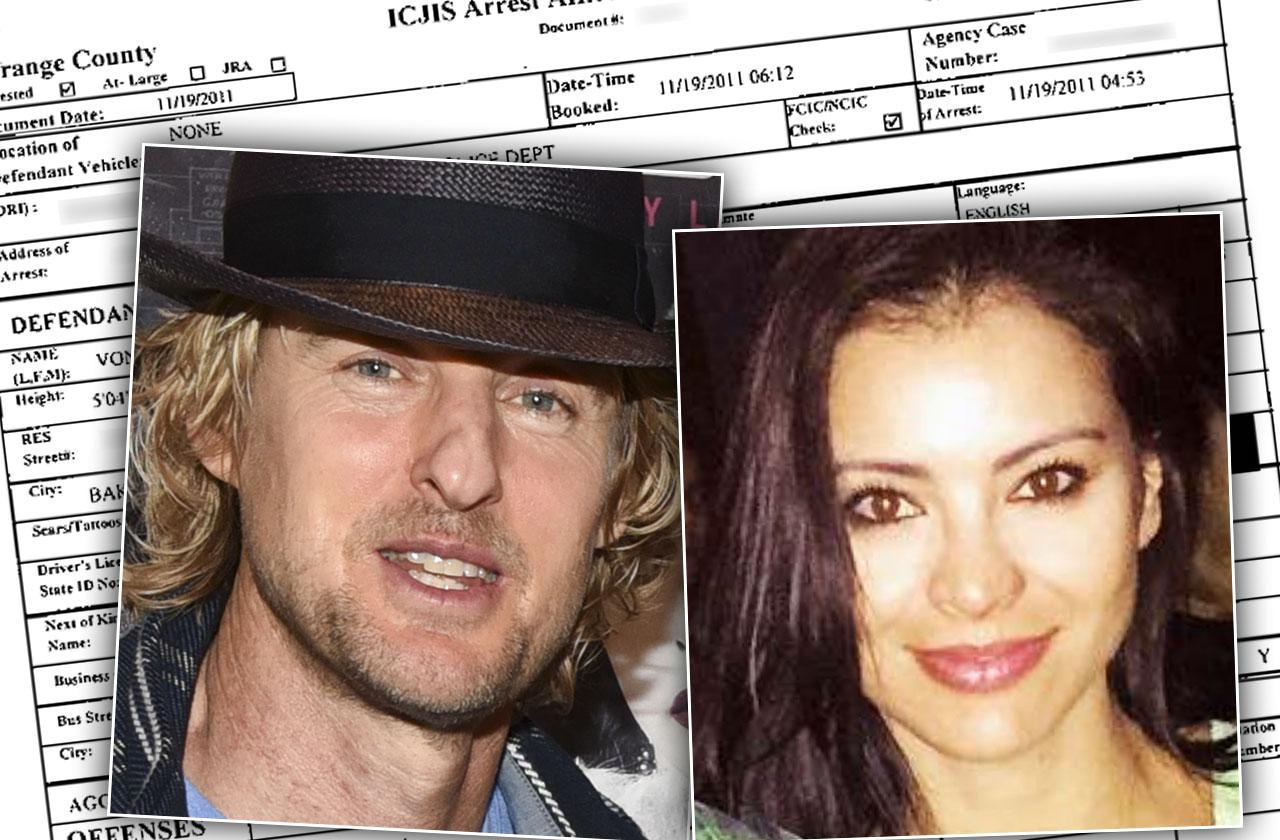 Owen Wilson Baby Mama Arrested Battery Domestic Violence