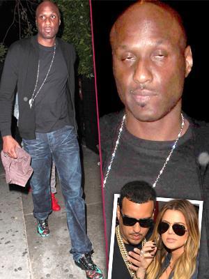 //lamar odom rejected la club ex khloe kardashian french montana party inside tall