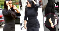 Kim Kardashian Pregnant Baby Bump
