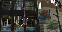 Drugged Man Jumps Out Comic Store Window