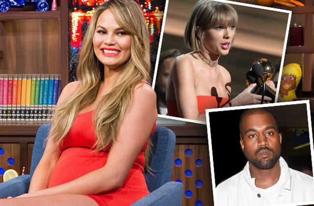 //chrissy teigen slams kanye west taylor swift feud pp