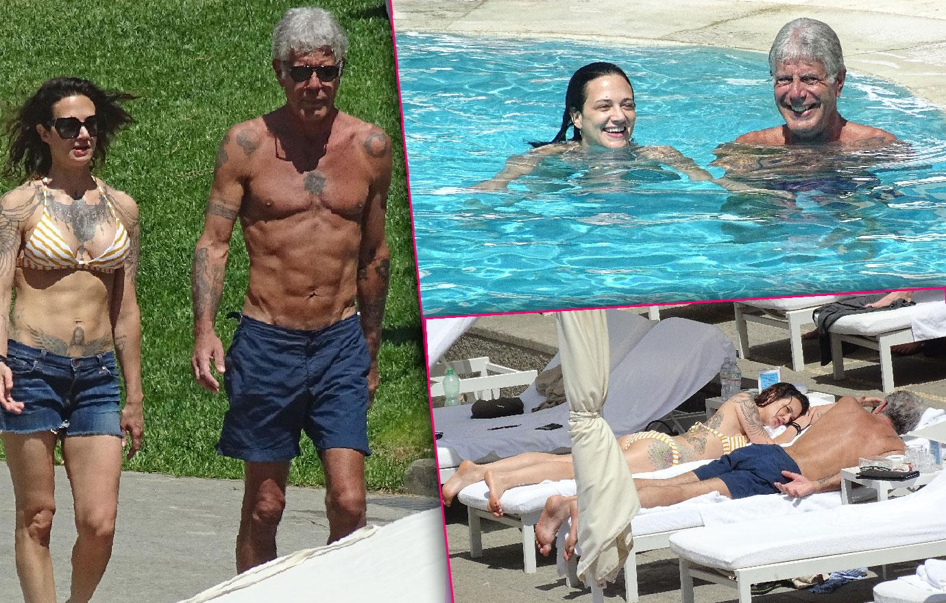 Anthony Bourdain And Asia Argento Show Off Amazing Abs