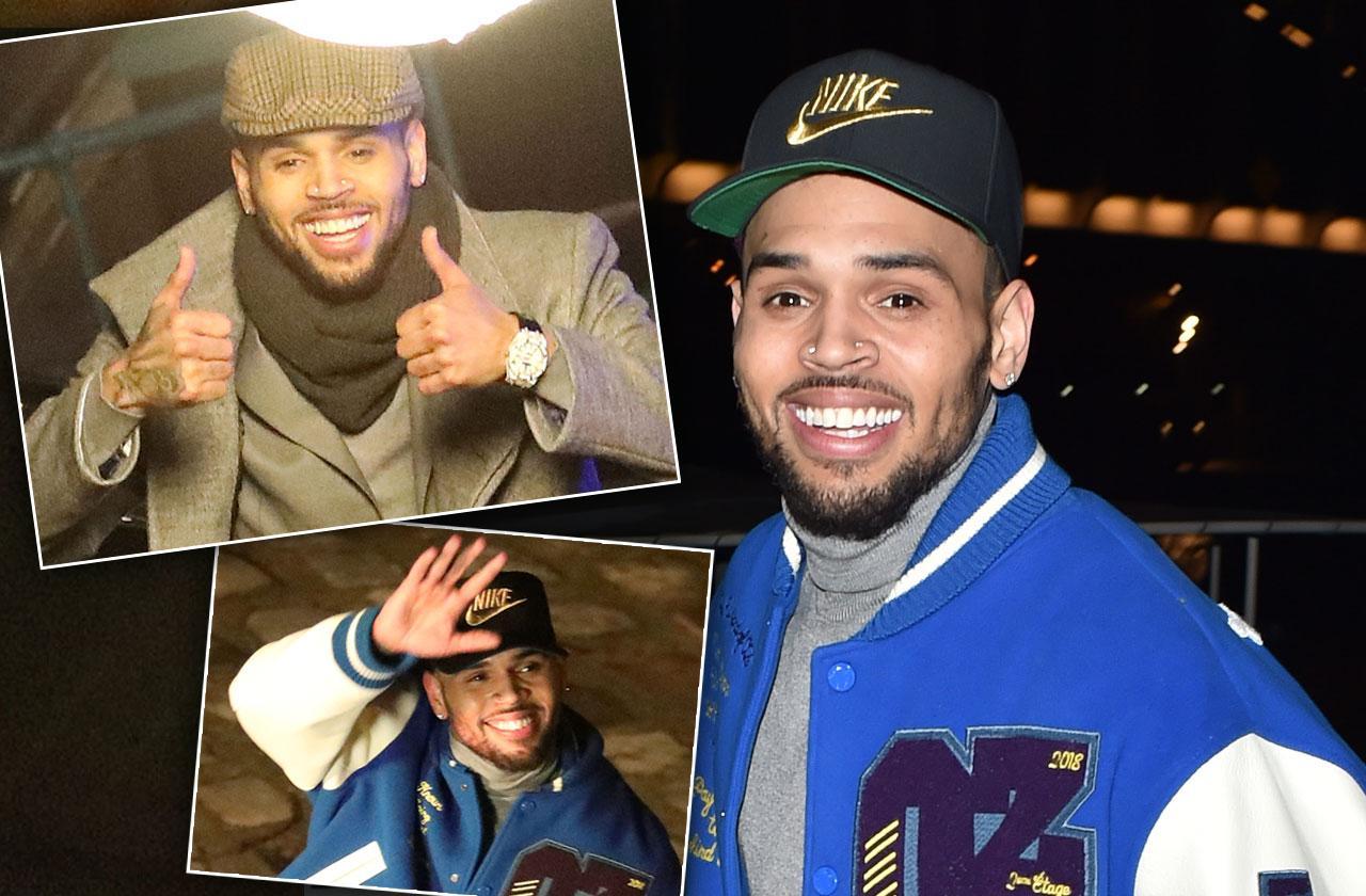 Chris Brown Smiles Paris Sex Assault Scandal