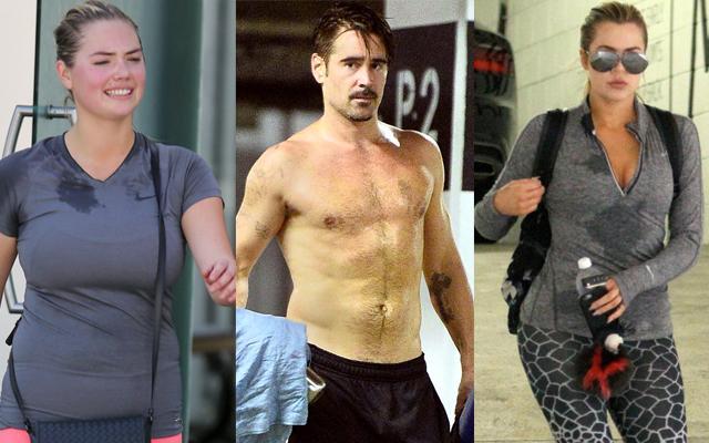 Celebrity exercise sweat