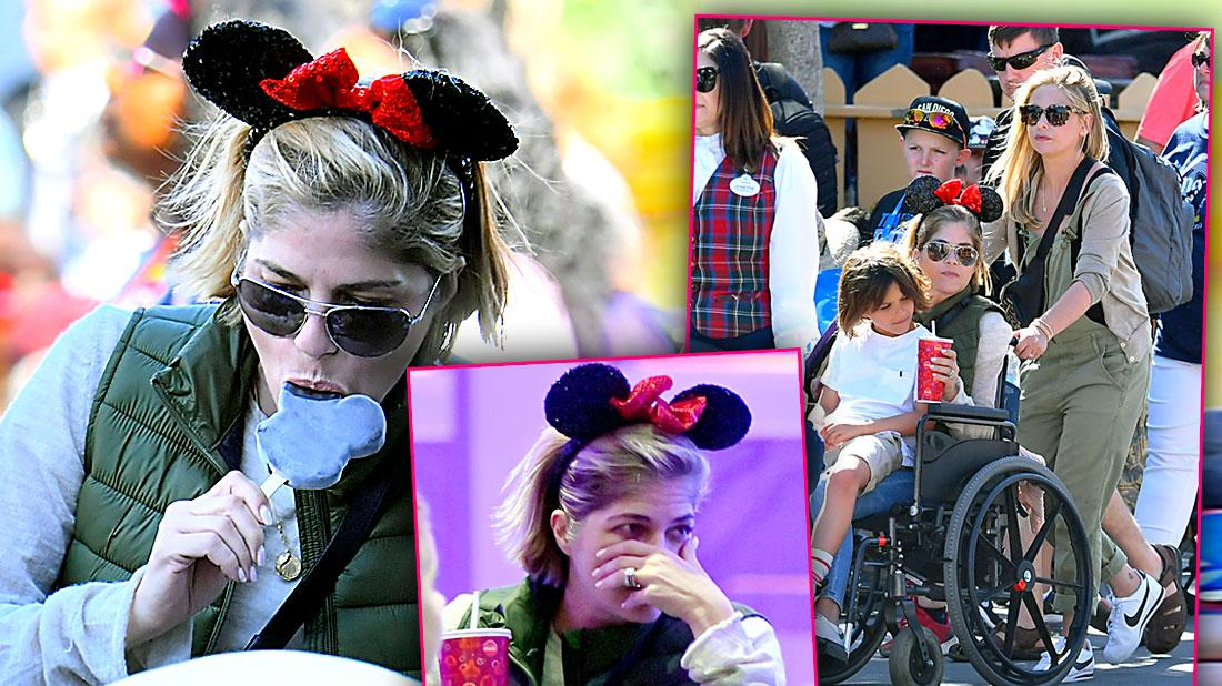 MS Stricken Selma Blair Has Disneyland Fun with Friends and Family