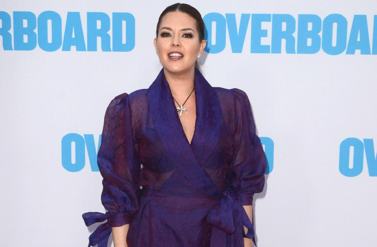 The Alicia Machado sex tape has not hurt her at all, she's making the scene at Hollywood premieres.