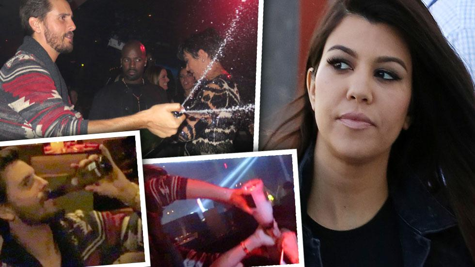 //kourtney kardashian and scott disick at odds over his partying ways