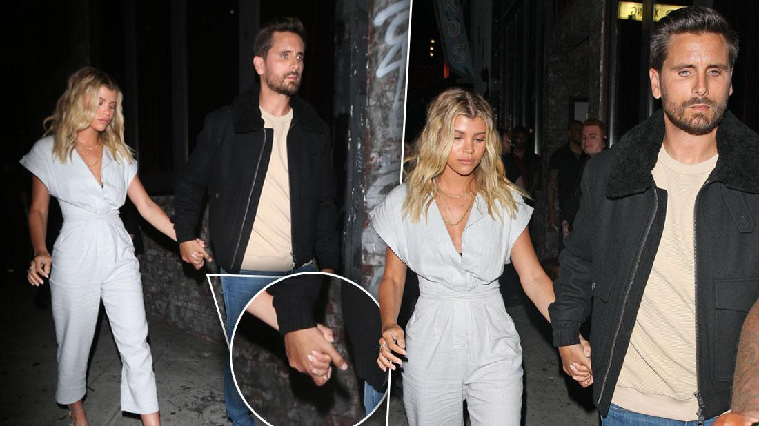 Scott Disick & Sofia Richie Hold Hands Outside Los Angeles Club