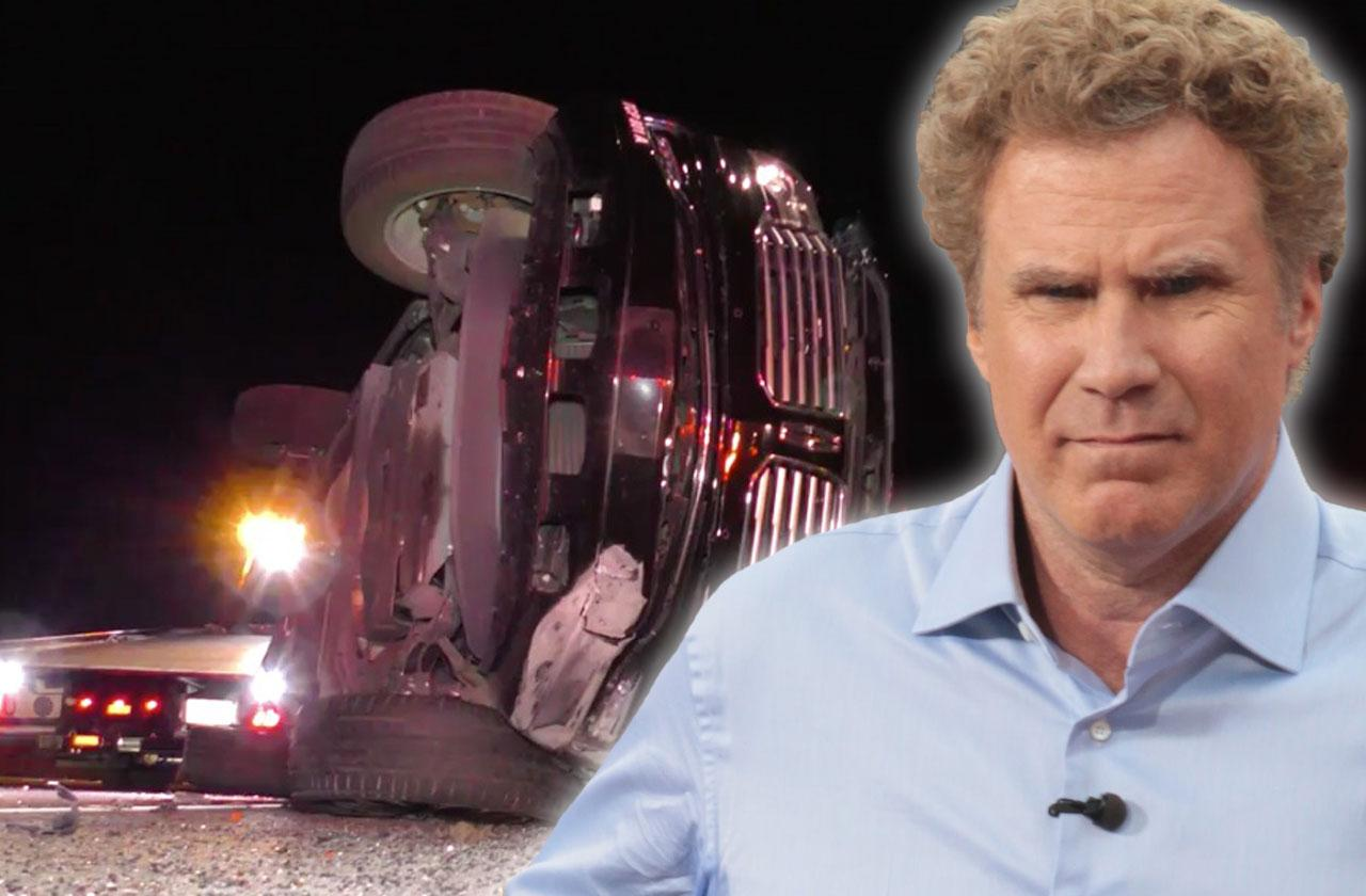 //will ferrell car accident passenger hospitalized major injuries no drugs alcohol pp