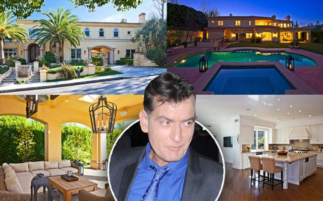 //charlie sheen hiv positive selling mansion inside pp