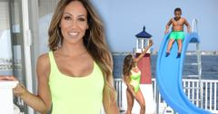 Melissa Gorga Enjoys Pool Day With Son In Neon Swimsuit