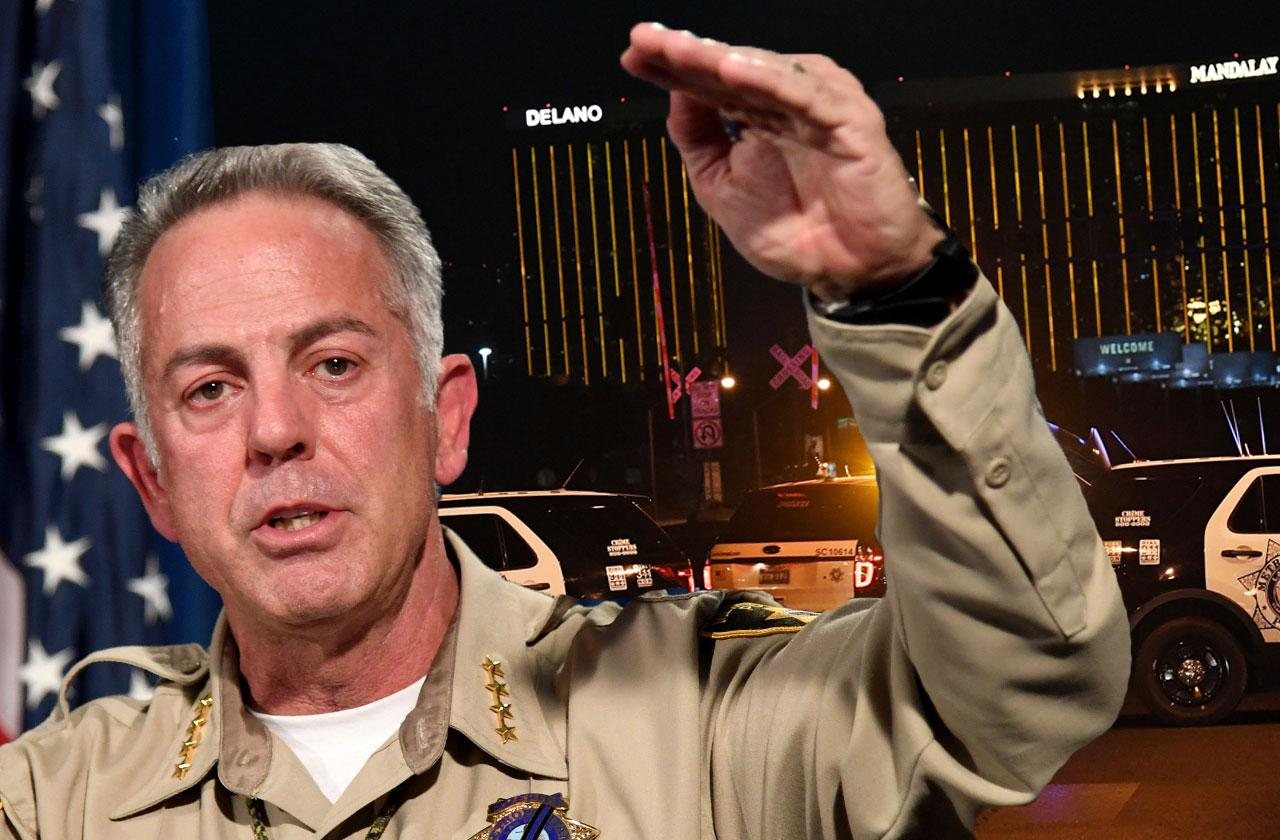 //vegas shooting timeline change sheriff press conference pp