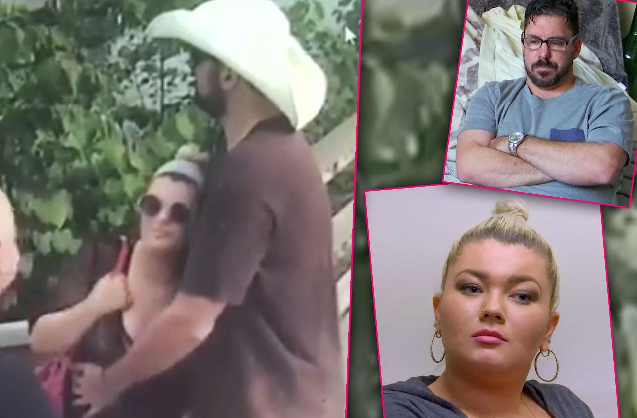 amber portwood kissing mystery man new boyfriend matt baier split teen mom
