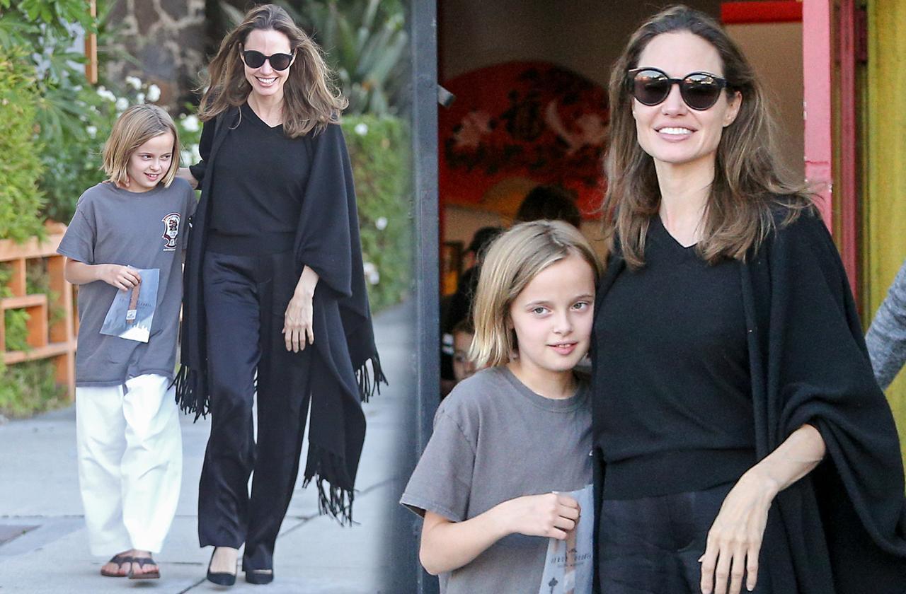 Angelina Jolie & Vivienne Jolie-Pitt Karate Class