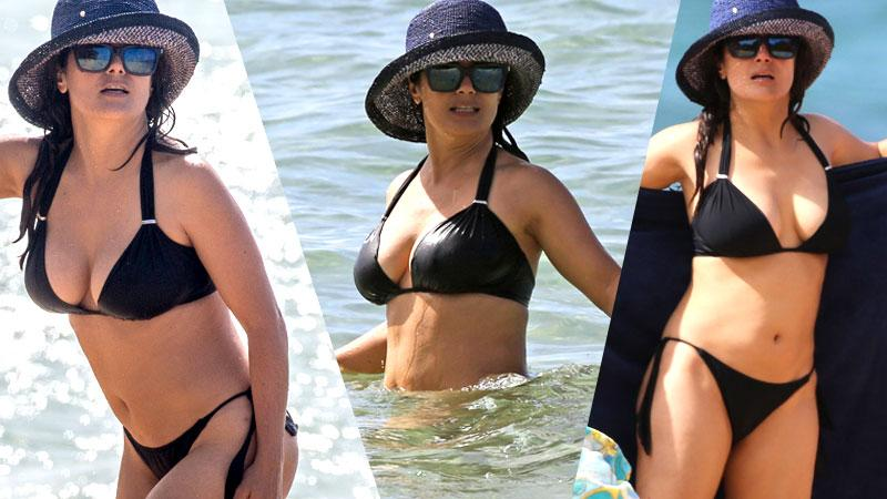 Salma Hayek Bikini Photos On Yacht In Hawaii