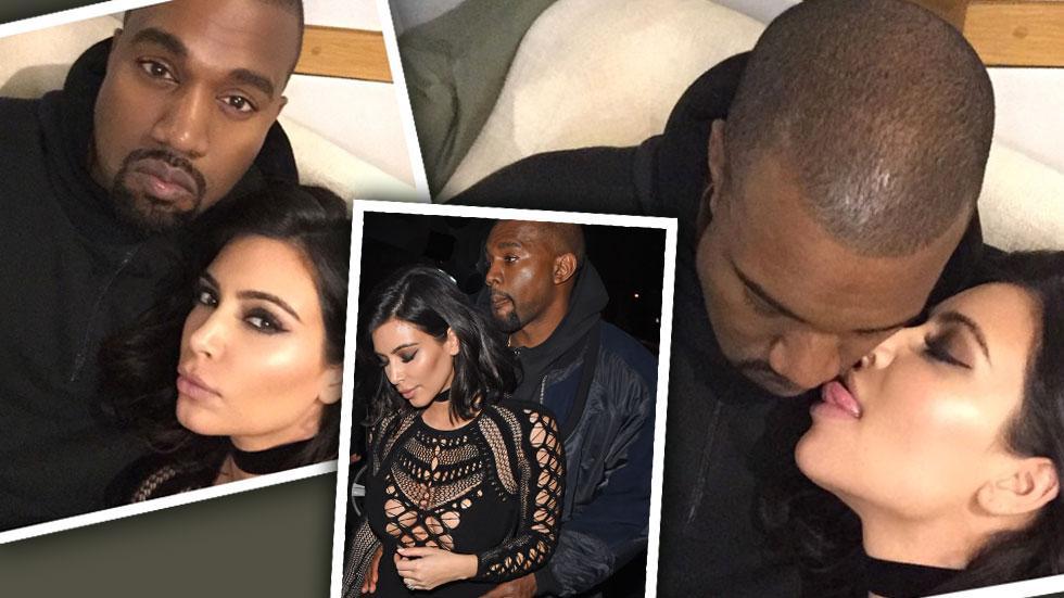 Kim Kardashian Licks Kanye West