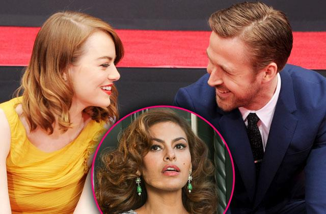 //ryan gosling eva mendes fight flirting emma stone pp