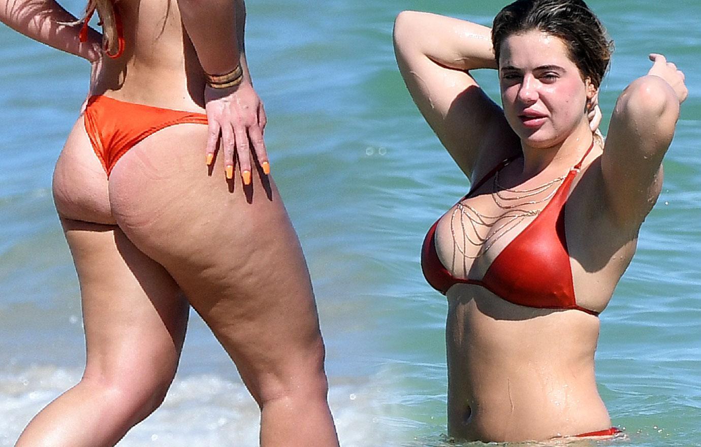 Brielle Biermann Bikini Body Kisses Boyfriend
