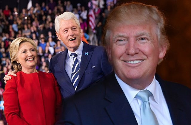 Bill And Hillary Clinton Attend Trump Inauguration