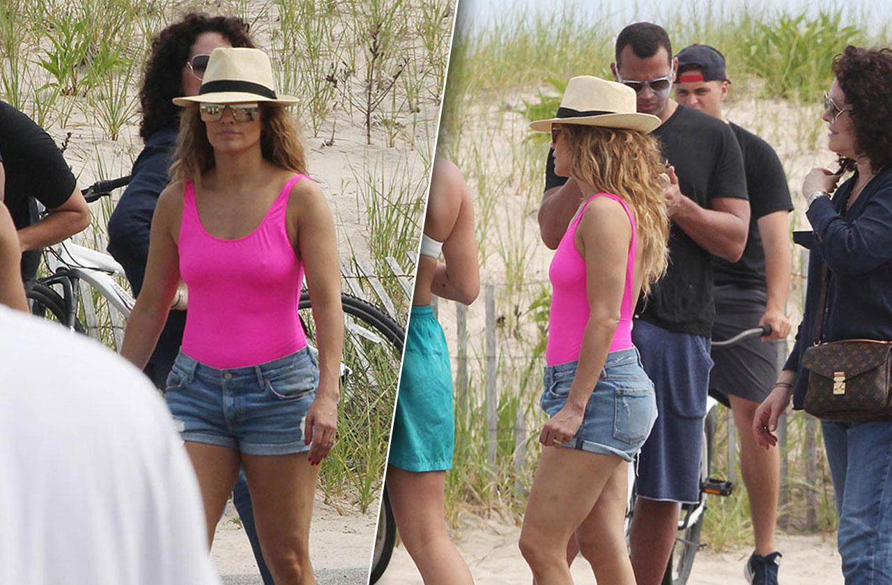 Jennifer Lopez Alex Rodriguez Family Beach Kids