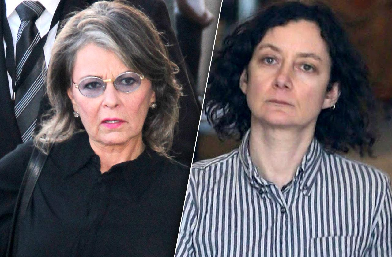 //Roseanne Barr Sara Gilbert Feud On Set pp