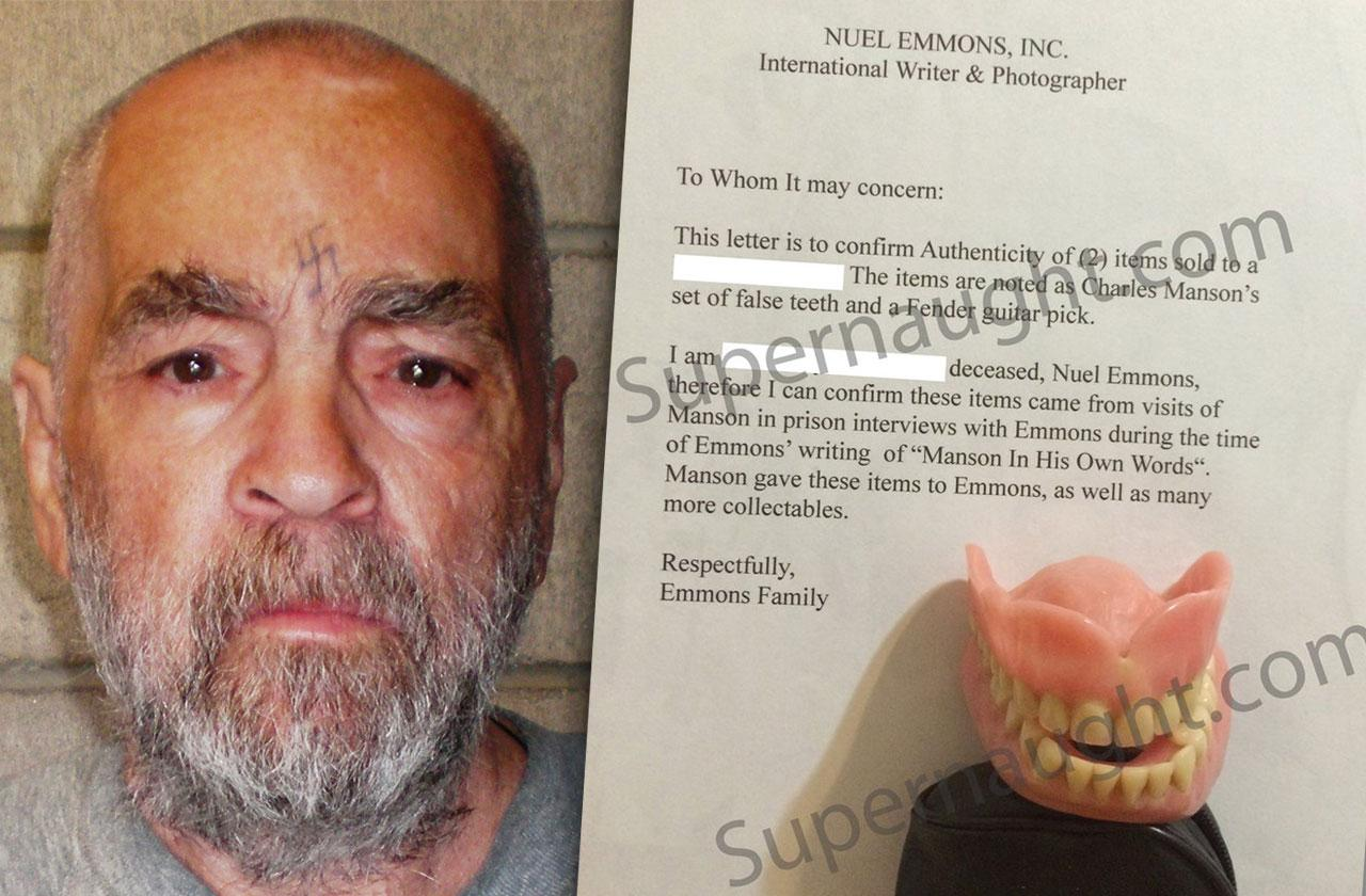 Charles Manson False Teeth Auction