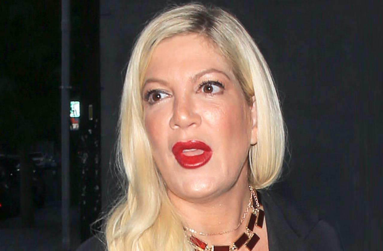 tori spelling evacuated fire lie