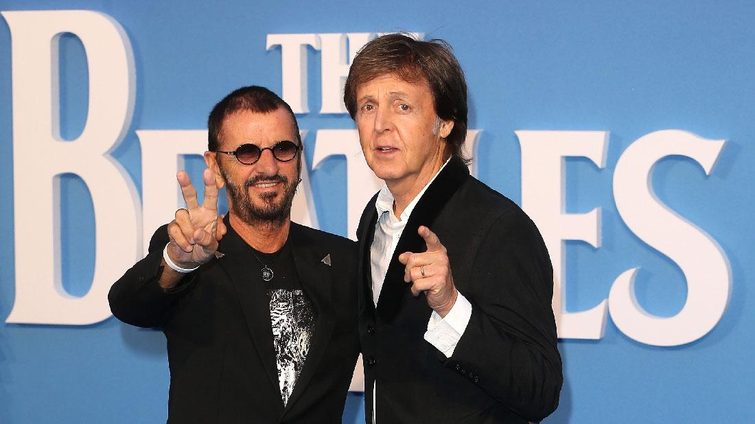 Beatles Reunion Paul McCartney Ringo Starr Hit Stage