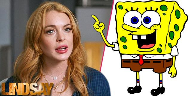 //lindsay lohan sponge bob