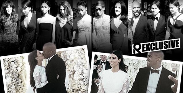 //kim kardashian kanye west wedding guests complain nuptuals paris wide