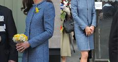 //kate middleton blue coat recycles