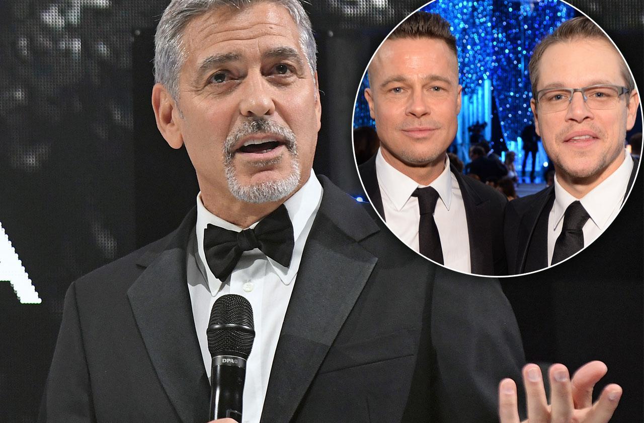 //George Clooney Friends Snub Rande Gerber Brad Pitt Matt Damon pp