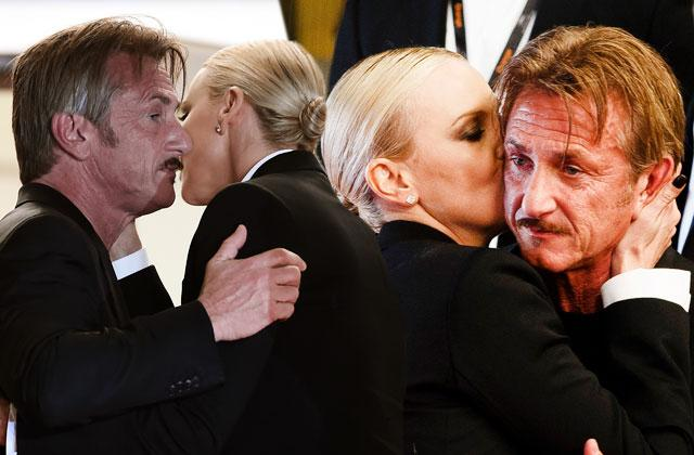 Sean Penn & Charlize Theron Photos At Cannes -- Awkward Post-Breakup Reunion
