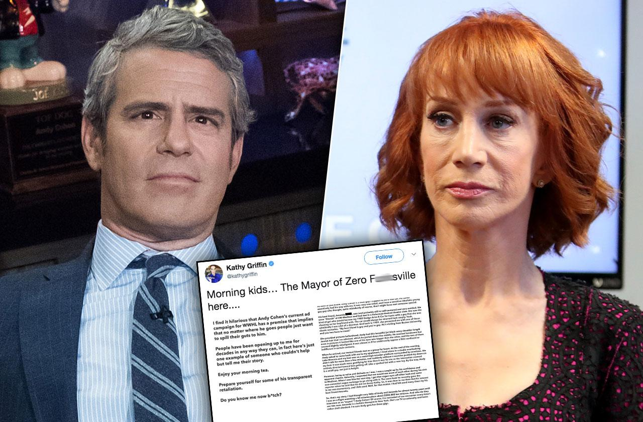 Kathy Griffin Andy Cohen Feud Twitter