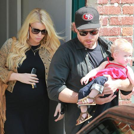 Jessica Simpson and Eric Johnson With Baby Maxwell