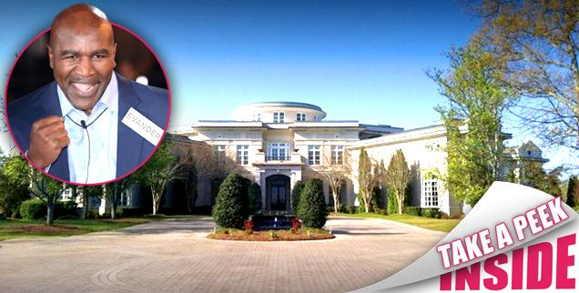 //evander holyfield georgia mansion sells   million  wide